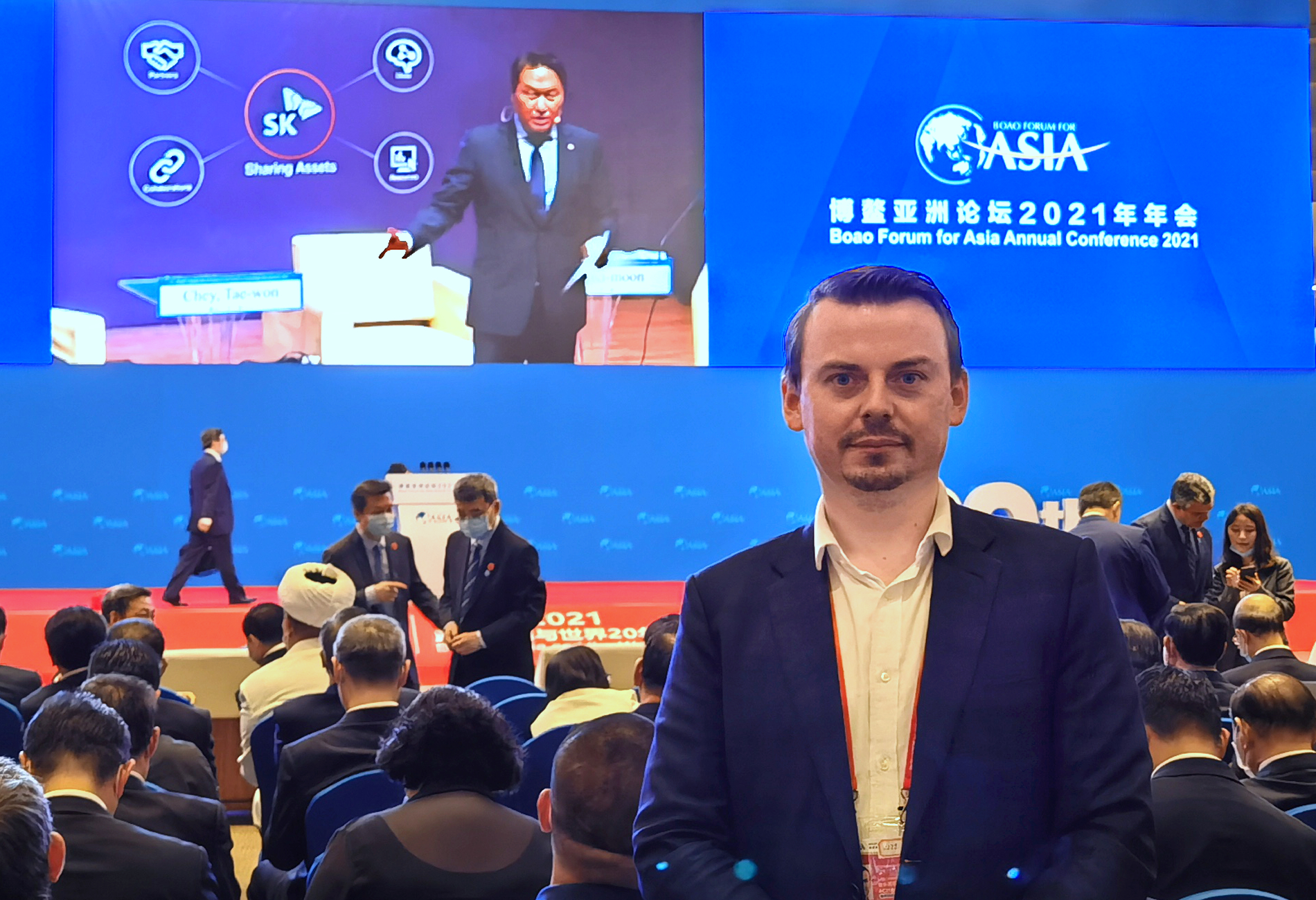 Scholz CEO Rafael Suchan at the Boao Forum